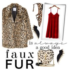 """""""faux fur is a good idea"""" by janesmiley ❤ liked on Polyvore featuring MANGO, WALL, Yves Saint Laurent and Givenchy"""