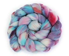 Hand Dyed Superwash Merino Wool Roving for Spinning - Cotton Candy - 3.4oz/96g - Purple, Turquoise, Red on Etsy, $17.86 AUD