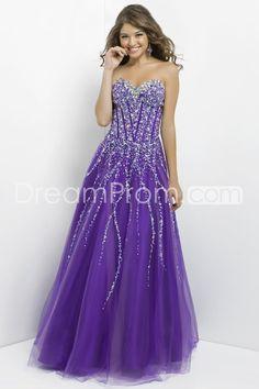 2014 Floor-length Sleeveless Beading Sweetheart Ball Gowns Tulle Prom Dresses