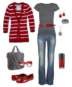 Grey and red for fall.