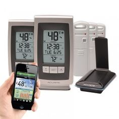 AcuRite Temperature and Humidity Environment System 922ES | This AcuRite Environment System includes an AcuLink Internet Bridge, two (2) wireless thermometer displays, and three (3) indoor or outdoor Temperature and Humidity Sensors.