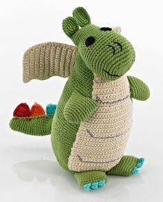 Storytime Green Dragon  Kahiniwalla  Handmade Baby Rattles c12efc7bc4