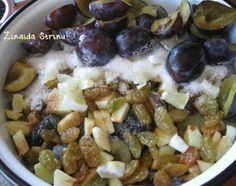 Gem de prune special. Asezarea in cratita Pickles, Oatmeal, Deserts, Ale, Breakfast, Fruit Cakes, Chocolate Cakes, Recipes, Food