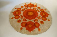 XXL 70s Mid-Century  rug by propsartMilano on Etsy