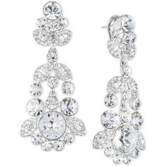 Givenchy Ornate Crystal Chandelier Earrings ($125) ❤ liked on Polyvore featuring jewelry, earrings, silver, crystal jewellery, crystal jewelry, crystal stone jewelry, earrings jewelry and givenchy