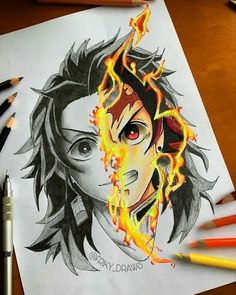 A Lot Of manga And Anime Drawing Styles Anime Drawing Styles, Guy Drawing, Manga Drawing, Sketch Drawing, Demon Slayer, Slayer Anime, Bakugou Manga, Anime Sketch, Dragon Art