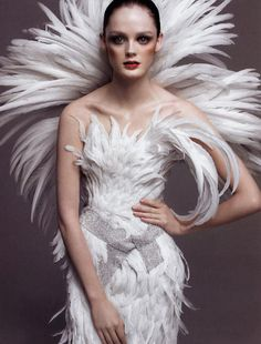 ♥ Romance of the Maiden ♥ couture gowns worthy of a fairytale - feathers