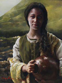 Living Water (The Samaritan Woman at the Well) by Elspeth C. Young - Copyright: All Rights Reserved - 2005