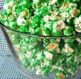 Green Candied Popcorn: Recipe