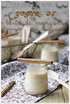 Yogur de tarta de manzana - Recetas Sin Azúcar | El blog sin azúcar