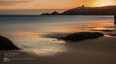 Happy New Year Sunset 1 by didierlanore  2016 Beach Long exposure Sunset Sea Clouds Orange Bretagne Wave Quiet Quiberon Port Blanc Happy New