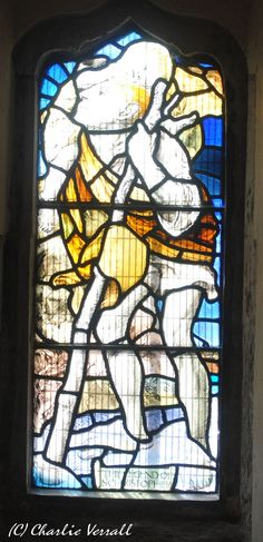 St Christopher stained glass window, St Andrew's Church, Alfriston East Sussex | Flickr - 相片分享!