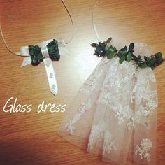 【結婚式DIY】100均素材でOK!グラスドレスの作り方   marry[マリー]