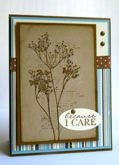Because I care (for man) by Luv Flowers - Cards and Paper Crafts at Splitcoaststampers