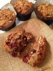 Breakfast Muffins: carrot, banana, almond flour, coconut flour.