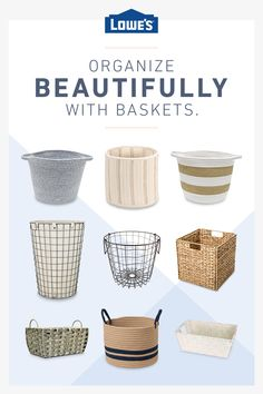 Organize your home with baskets, from wire to wicker. Diy Room Decor Videos, Table Decor Living Room, Dining Room, Bedroom Minimalist, Getting Organized At Home, Room Ideas Bedroom, Diy Bedroom, Family Room Design, Small Dining