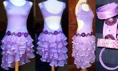 ruffled skirt / latin dance dress
