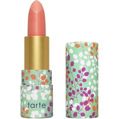 tarte Amazonian butter lipstick, coral blossom 1 ea ($17) ❤ liked on Polyvore featuring beauty products, makeup, lip makeup, lipstick, beauty, lips, cosmetics, filler, mineral lipstick and glossy lipstick