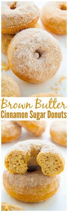 Soft and fluffy Brown Butter Cinnamon Sugar Donuts bake up in just 10 minutes!