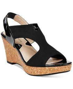 4c1aa26d5a342f Adrienne Vittadini Carinea Platform Wedge Sandals Shoes - Sandals   Flip  Flops - Macy s
