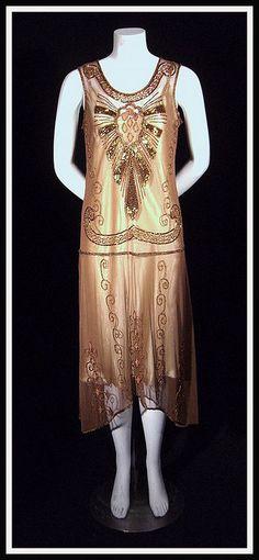 deco copper dress 1920's  #OPIEuroCentrale #AWomansPragueative