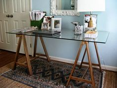 """No space or need for a sawhorse table as of now. File this one under """"someday."""""""