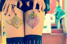 Sailor Moon Compacts Tattoos are a classic!! #tattoo #ink #sailormoon #heart