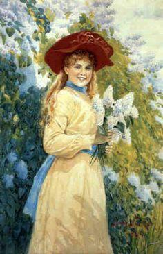 Lilac Princess Jenny Nystrom (1854 – 1946, Swedish)