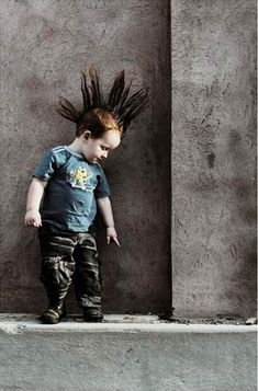 punk kid strikes a pose...