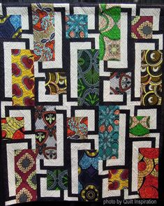 What makes a quilt modern? According to The Modern Quilt Guild , the characteristics may include the use of bold colors and prints, high . Farm Quilt, Lap Quilts, Scrappy Quilts, Quilt Blocks, Pattern Blocks, Quilt Patterns, Asian Fabric, Stained Glass Quilt, Quilt Modernen
