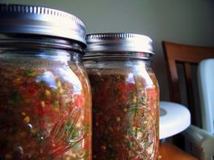 A few of you have made a request for my recipe or method for making a fermented salsa. I'm excited to share this with you for two reasons:    I am making this stuff a lot lately.   It is some of the best salsa we've ever had.   It's a lot easier than water bath canning salsa.   It is a tasty way to take in some probiotics.   It keeps for months in cold storage.