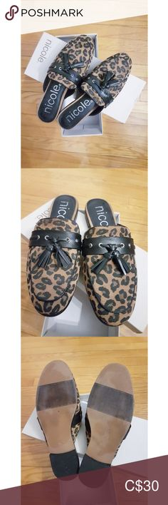 Leather leopard slides with tassels Leather leopard slides with tassels. EUC- worn a few times. No scuffs or damage. Loafer Flats, Loafers, Plus Fashion, Fashion Tips, Fashion Trends, Miu Miu Ballet Flats, Tassels, Style Me, Times