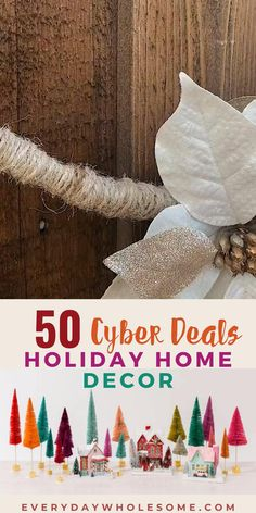 These are my 50 best finds for Black Friday Cyber Monday Deals 2020. Check out these Holiday Home Decor Sales for Christmas Decorations including wooden signs, wreaths, classic, farmhouse and rustic ideas to decorate your home using sleighs, ornaments, trees, brush trees, villages baubles, and so much more. #blackfriday2020 #cybermonday2020 #cybersales2020 #holidayhomedecor #christmashomedecorth Handmade Christmas Decorations, Diy Christmas Gifts, Winter Christmas, Christmas Tree Ornaments, Christmas Wreaths, Gifts For Wife, Gifts For Her, Home Decor Sale, Scandinavian Gnomes