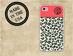 Cheetah iPhone case  Coral and cheetah print  by ToGildTheLily, $16.99