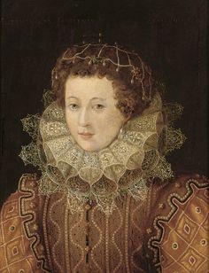 Manner of  Federico Zuccari, also known as Federico Zuccaro (c.1540/154-1609)  —   Portrait of a Elizabeth Ann Courtenay, 1583  (573x750)