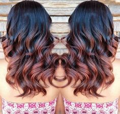 black+to+reddish+brown+ombre