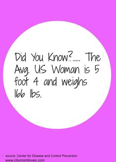 Avg. US woman height and weight