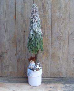 """""""Hó csata a fánál. Várlak titeket. - Tomi"""" - Stilizált fenyőfa, Dekoráció, Karácsonyi, adventi apróságok, Karácsonyi dekoráció, Ünnepi dekoráció, Gyerekkoromban, a téli szünet idején, minden nap hosszú órákat töltöttünk a szabadban. A pa..., Meska"""