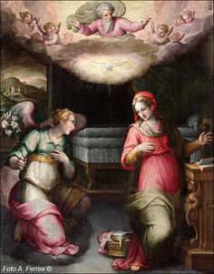 Annunciazione del pittore Giovanni Balducci detto il Cosci     Annunciazione