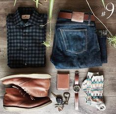 Outfit grid - Rugged style