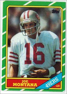 1986 Topps Joe Montana San Francisco Football Card for sale online Football Trading Cards, Football Cards, Nfl Football, Football Wall, American Football, Football Players, College Football, Sf Niners, Forty Niners