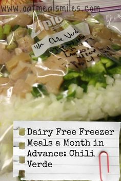 Dairy Free/Low Calorie Freezer Meals A Month In Advance - Oatmeal Smiles