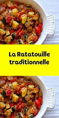 La Ratatouille traditionnelle - Rebel Without Applause Summer Recipes, Healthy Dinner Recipes, French Cooking Recipes, Confort Food, Ratatouille Disney, Cuisine Diverse, Vegetable Side Dishes, Kitchen Recipes, Family Meals