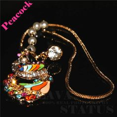New Arrival 1PC Free Shipping Alloy With Rhinestone&Zircon Large Peacock with Tassel Animal Phone Dust Plug Decoration Accessory $3.27