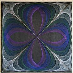 Orchide String Art Wall Art Wall Decor Home Decor Yoga | Etsy Arte Linear, Yoga Studio Design, Painted Boards, Pin Art, Skull Art, Abstract Wall Art, Fall Crafts, Wall Art Decor, Lana