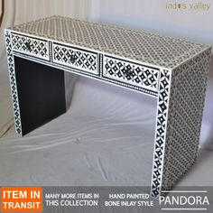 PANDORA-hand-painted-bone-inlay-style-solid-wood-hall-table-console-study-desk-B