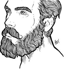 Image result for beard ink drawing