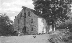 Photo courtesy Wayne T. McCabe HUNTSBURG — The gristmill at Huntsburg, circa 1908, erected in 1844 by Thomas P. Hunt.
