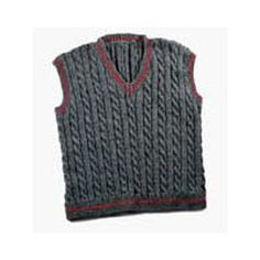 Valley Yarns 119M Daddy & Me Mens Cabled Vest (Free)