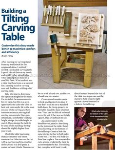 Tilting Carving Table Plans - Wood Carving